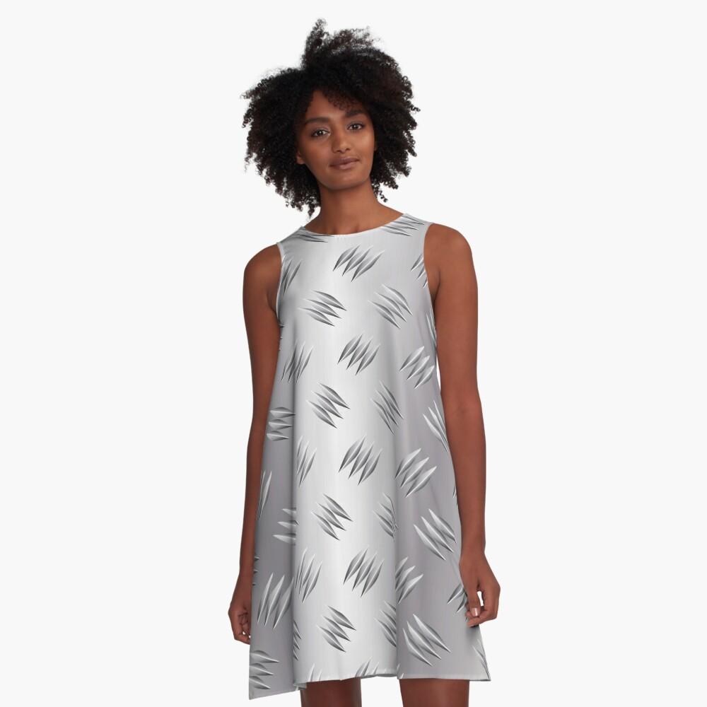 Metal Tread Plate Checker Plate Diamond Steel Aluminium A-Line Dress