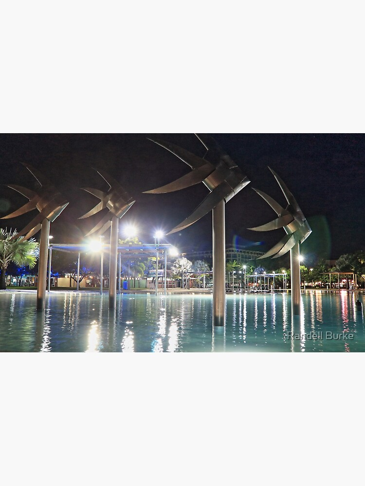 Cairns Esplanade Lagoon at Night by inntron