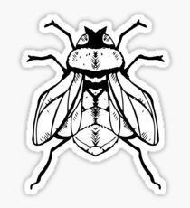 Fly Drawing. Sticker