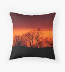 Trees at Sunset Throw Pillow