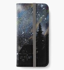 Cabin in the Night Woods iPhone Wallet/Case/Skin