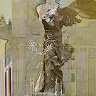 Becca with the Winged Victory of Samothrace by Sarah Butcher