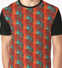 TEAL AND ORANGE MESS Graphic T-Shirt