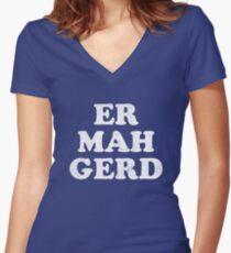 Ermahgerd Women's Fitted V-Neck T-Shirt