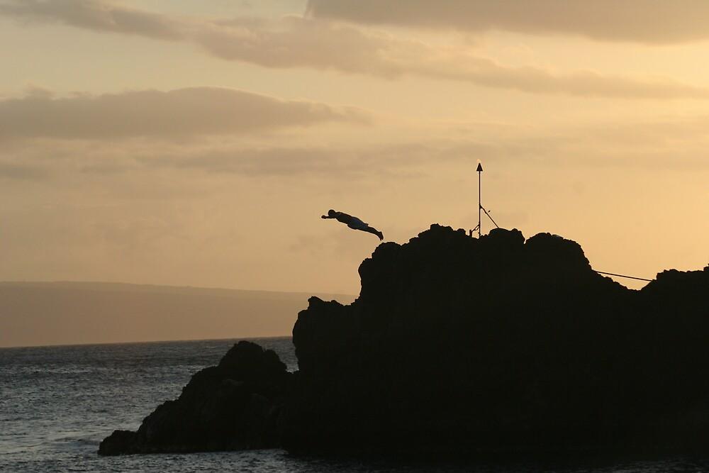 Black Rock Cliff Dive by Kris Nelson
