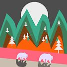 Bears walking home by cocodes