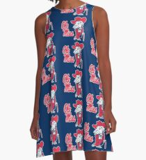 Ole Miss Colonel Reb A-Line Dress