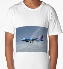 Brussels Airlines Airbus A320-214 Long T-Shirt