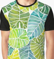 Tropical Leaves Alocasia Elephant Ear Plant  Graphic T-Shirt