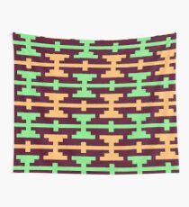 Native Aztec Dumbell Pattern Wall Tapestry