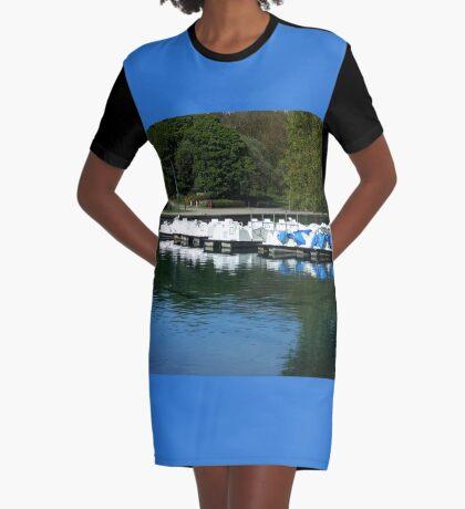 Boote - South Marine Park, Südschilder T-Shirt Kleid