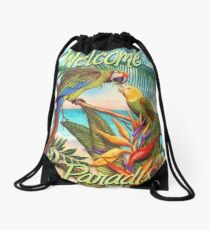 WELCOME TO PARADISE Drawstring Bag