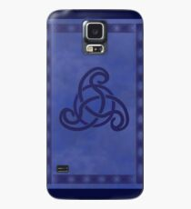Blue Celtic Wiccan Waves of Time Case/Skin for Samsung Galaxy