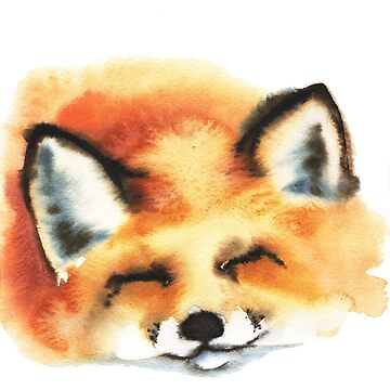 portrait of a sleeping cute fox by OlgaBerlet