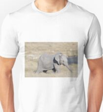 Baby Elephant With Trunk Extended Unisex T-Shirt