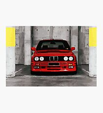 Red Sports Car - Front Photographic Print