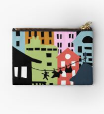 Night at the City Silhouette Buildings Studio Pouch