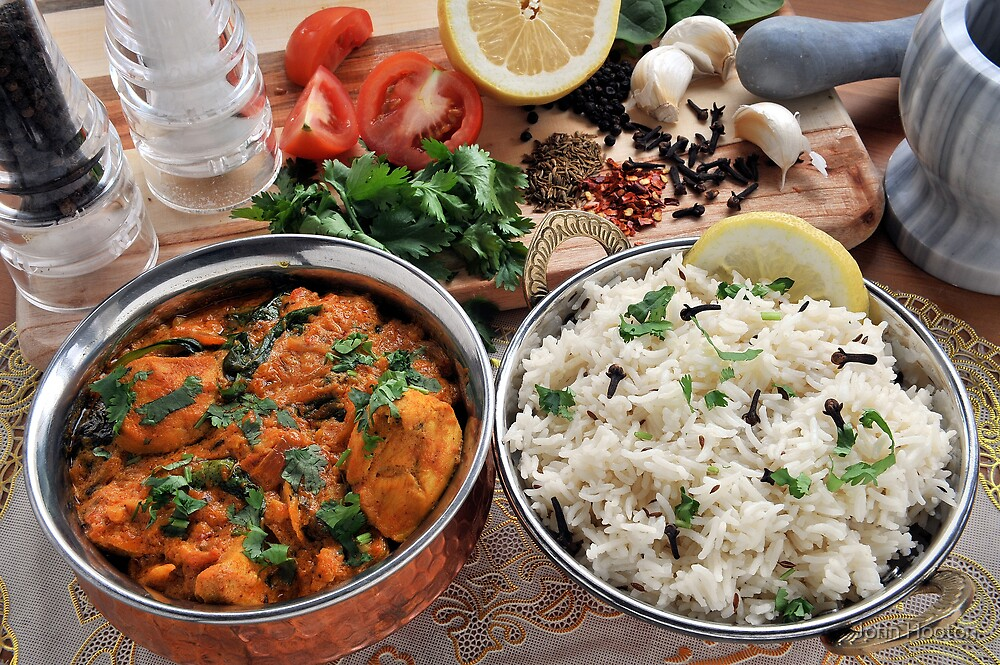 Chicken and Spinach Balti by John Hooton