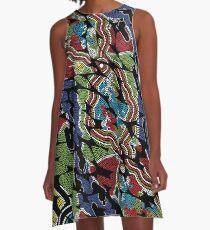 Aboriginal Art - Walkabout A-Line Dress
