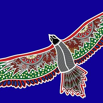 Aboriginal Art Eagle - Eagle/Hawk  by HogarthArts
