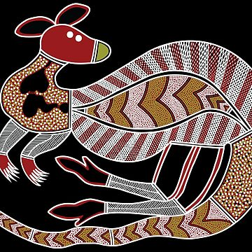Aboriginal Art - The Kangaroo by HogarthArts