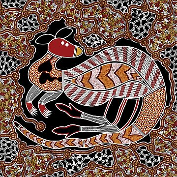 Aboriginal Art - Kangaroo Dreaming by HogarthArts