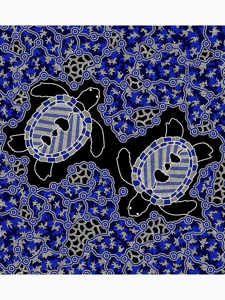 Aboriginal Art Turtles Sea Turtle Dreaming Photographic Print By