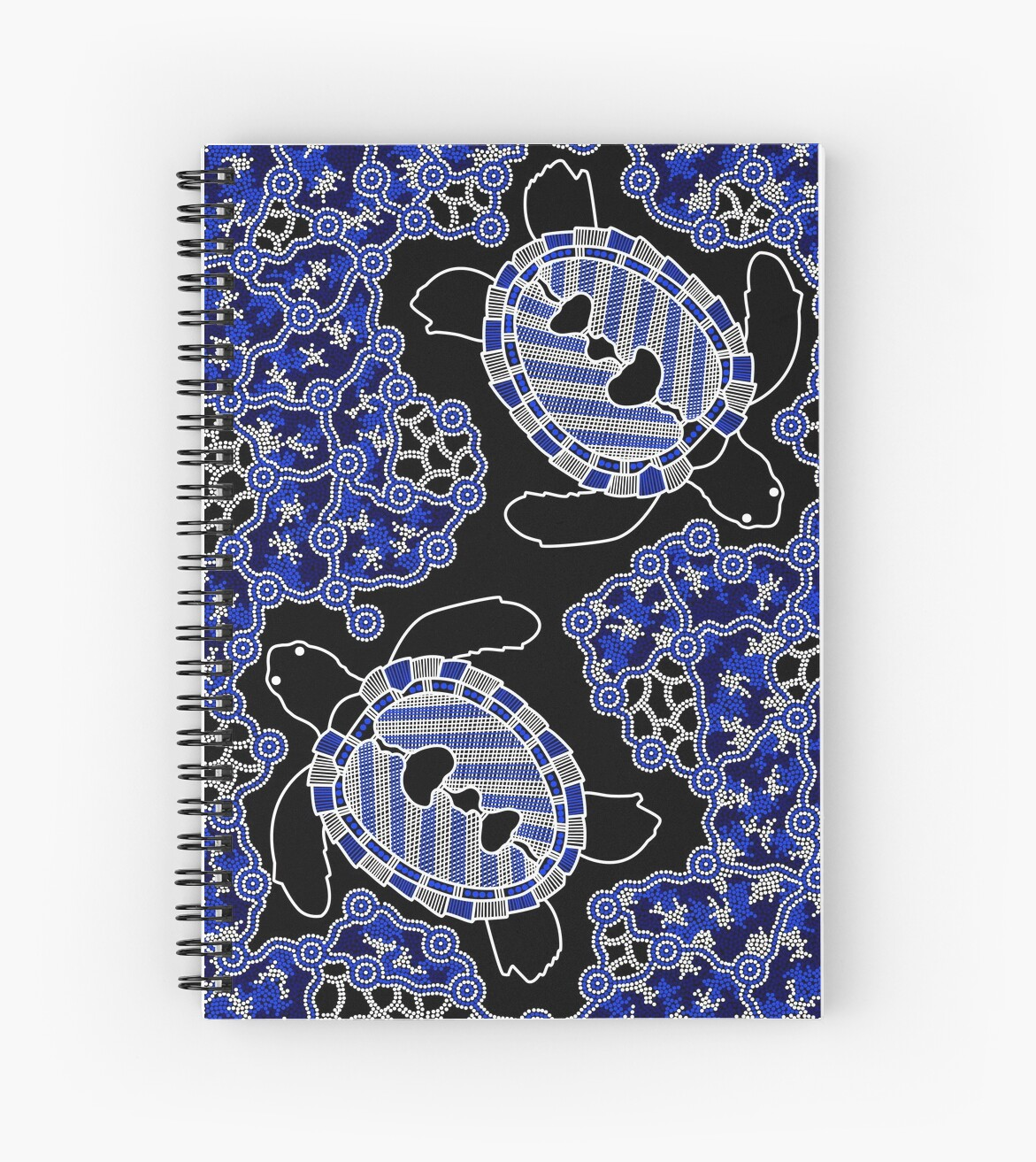 Aboriginal Art Turtles Sea Turtle Dreaming Spiral Notebooks By