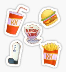 have some ocean fast food stickers  Sticker