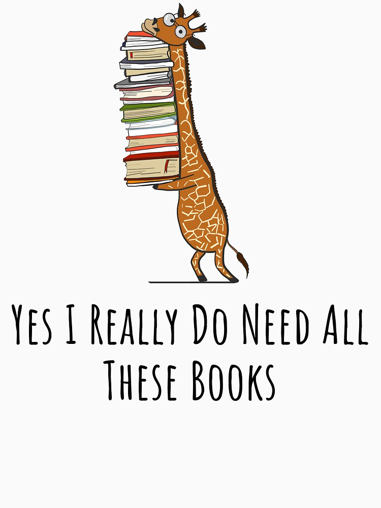 Lustige Giraffe, die einen Stapel Bücher hält - ja benötige ich wirklich diese Bücher - Buch-Liebhaber-Geschenk, Telefon-Kästen und anderes Geschenk von MemWear