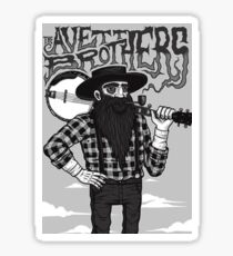 the avett brothers and the guitar Sticker