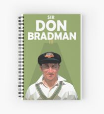 Sir Don Bradman Spiral Notebook