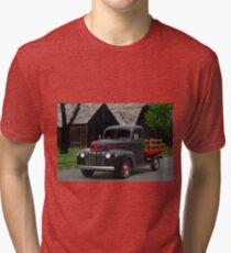 1946 Ford Flat Bed Pickup Truck Tri-blend T-Shirt