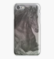 Black Friesian Horse iPhone Case/Skin