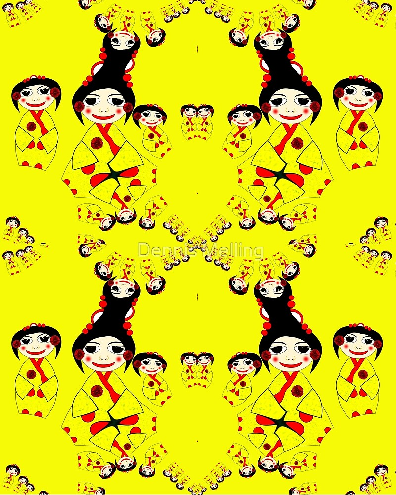 A Yellow China Girls pattern by Dennis Melling