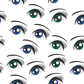 Eyes on white  by EkaterinaP