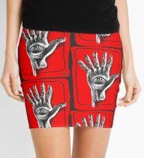 Hand six fingers Mini Skirt