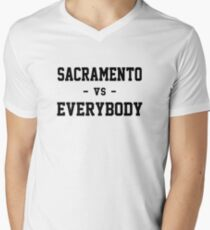 Sacramento vs Everybody Men's V-Neck T-Shirt