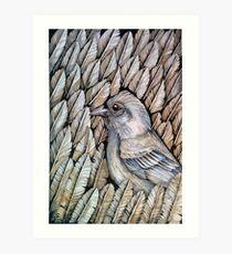 Feather pattern Art Print