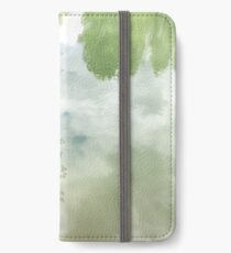 reflections on calm lake surface iPhone Wallet/Case/Skin