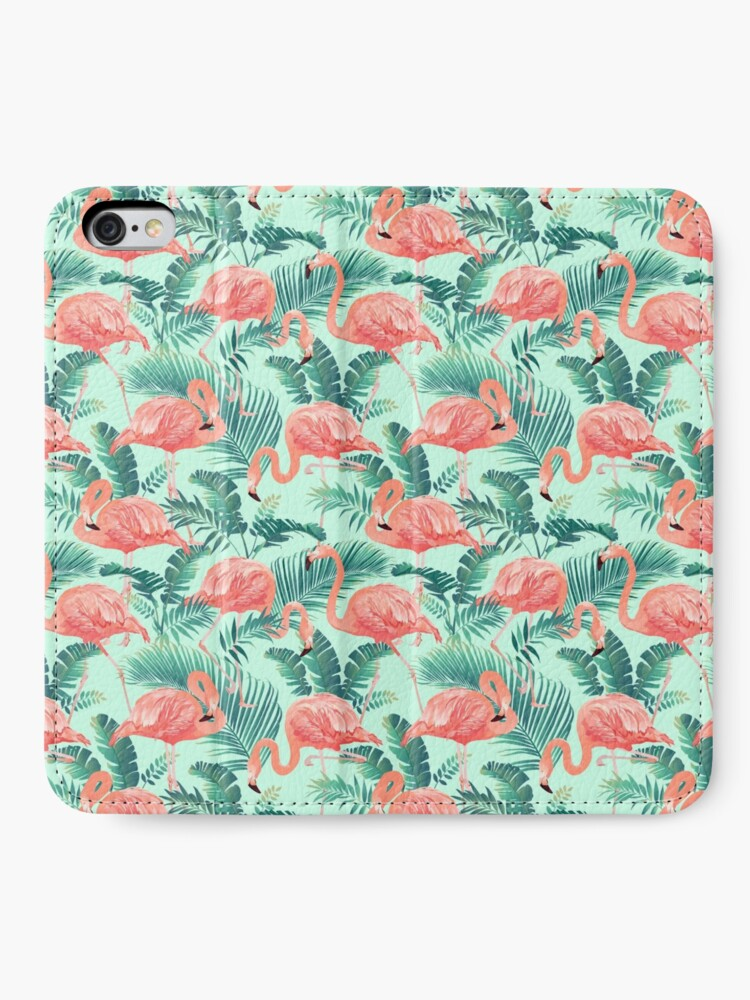 Alternate view of Flamingo Bird Tropical Palm Pattern iPhone Wallet