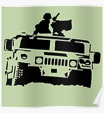 Off-road vehicle army Poster