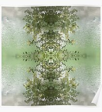 dreamscape lake symmetrical pattern 2 Poster