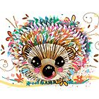 Rainbow Hedgehog by Karin Taylor