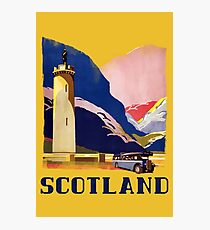 Scotland - Vintage Style Travel Highlands Photographic Print