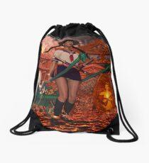 Hell Girl Shaman Witch Drawstring Bag