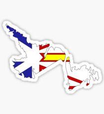 Newfoundland & Labrador Flag Map  Sticker