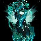 Dark Synthwave/Cyberpunk Queen Chrysalis by Ilona Iske