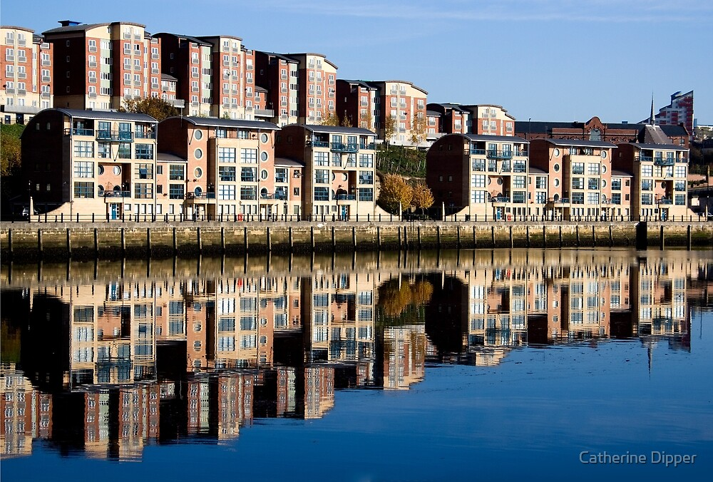 Morning reflections by the quayside by Catherine Dipper