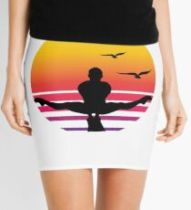 workout retro sunset, #workout  Mini Skirt